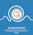 Heart sign icon Love symbol Blue and white vector image vector image