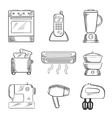 Home appliance sketched icons set vector image vector image