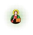 Jesus Christ comics icon vector image vector image