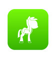 little pony icon digital green vector image