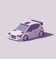 low poly rally racing car vector image vector image
