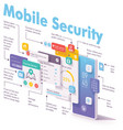mobile security and data protection concept vector image vector image