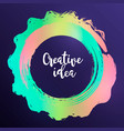modern colorful circle poster ink round stroke o vector image