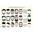 Mustache and Beard Hipster Fashion Set vector image vector image