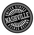 nashville black and white badge vector image vector image