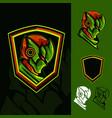 new green ninja vector image vector image