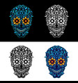 ornamental skull vector image