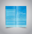 polygonal style Document template vector image vector image