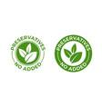 preservatives no added green organic leaf icon