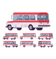 red retro bus vector image vector image