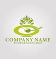restaurant leaf logo 2 vector image vector image