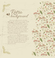 retro flourish decorative background vector image vector image