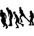 roller skaters collection vector image vector image