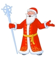 russian jolly Ded Moroz vector image vector image