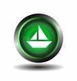 Sail icon on round internet button vector image vector image