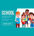 school eduacation banner multiracial vector image