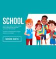 school eduacation banner multiracial vector image vector image