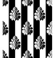 Seamless monochrome damask vintage pattern Striped vector image vector image