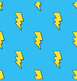 seamless pattern yellow electric lightning bolts vector image vector image