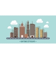Set of city silhouettes vector image vector image