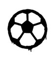 sprayed football ball icon graffiti overspray in vector image vector image