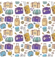 suitcases seamless background vector image vector image