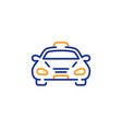 taxi cab transport line icon car vehicle sign vector image