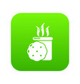 tea and biscuit icon green vector image vector image