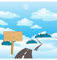 the road in winter vector image vector image