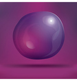 Transparent Soap Bubble on Purple Background vector image vector image