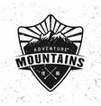 traveling adventure badge with mountains vector image vector image