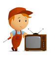TV technician vector image vector image
