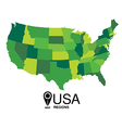 United States Map by states vector image vector image