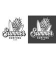 vintage surfing club badge vector image vector image