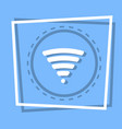 wifi icon wireless internet connection web button vector image vector image