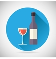 Wine Luxury Alcohol Symbol Bottle with stopper and vector image vector image