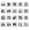 Wireless icons on gray squares vector image