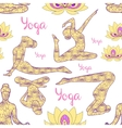 Yoga silhouette pattern vector image vector image