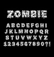 zombie and monster letters vector image