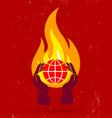 globe fire vector image