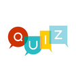 Quiz letters vector image