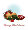 christmas card with cat vector image