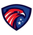 modern eagle head sport mascot vector image