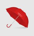 3d realistic render red blank umbrella icon vector image vector image
