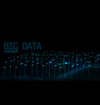 abstract lines and dots digital big data vector image vector image