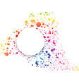 abstract rainbow dotted background with color vector image vector image
