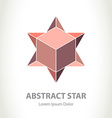 Abstract Star Logo with box inside logotype design vector image vector image