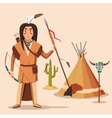 american or indigenous aboriginal indians vector image
