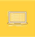 api app coding developer laptop flat line filled vector image