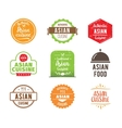 Asian cuisine label vector image vector image